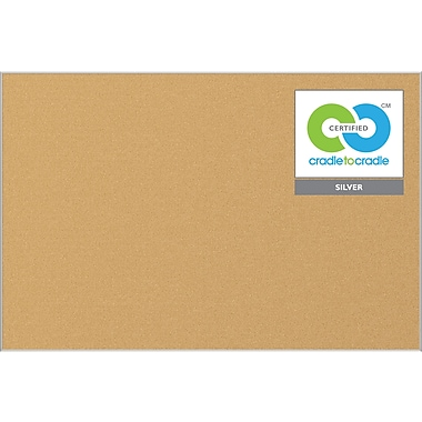 Best-Rite Ultra-Trim Eco Cork Bulletin Board, 4' x 4'