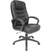 Comfort Products Soft-touch Bonded Leather Executive High-Back Chair, Black