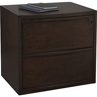 Z-Line Deluxe Wood Lateral File Cabinet, 30in.,  2-Drawer, Letter/Legal Size, Espresso
