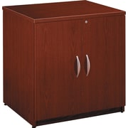 Bush Business Westfield 30W Storage Cabinet, Cherry Mahogany, Installed