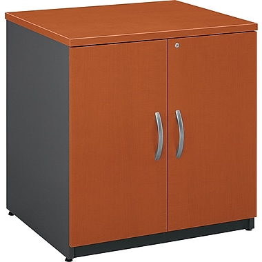 Bush Westfield 30in. Storage Cabinet, Autumn Cherry/Graphite Gray