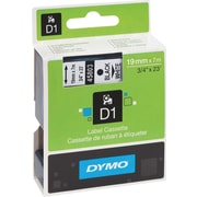 DYMO 3/4 D1 Label Maker Tape, Black on White