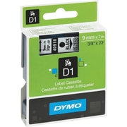 "DYMO® D1 Label Tape, 9mm (3/8"") Black on Clear"