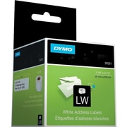 DYMO LabelWriter White Address Labels, 1 1/8 x 3 1/2 (130 Labels/Roll)