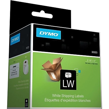 DYMO LabelWriter Standard White Shipping Labels, 2-1/8in. x 4in., 1 Roll