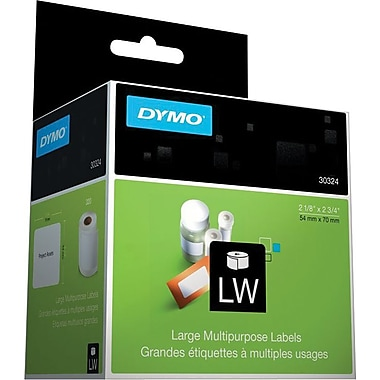 DYMO LabelWriter White Disk Labels, 2-1/8in. x 2-3/4in.