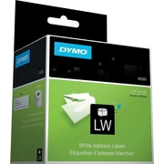 DYMO LabelWriter White Address Labels, 1-1/8 x 3-1/2 (260 Labels/Roll)