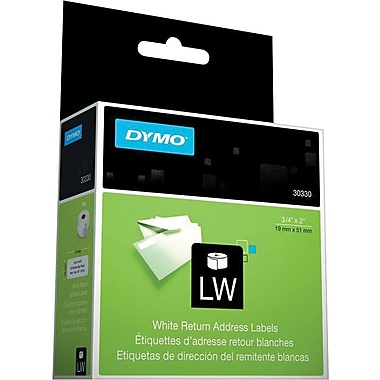 DYMO LabelWriter White Address Labels, 3/4in. x 2in. (500/roll)