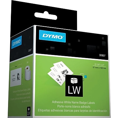 DYMO LabelWriter Adhesive White Name Badge Labels (250/roll)