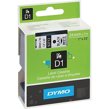 Dymo 53713 Black on White - 1in. Tape