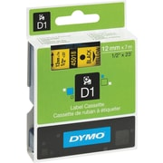 DYMO 1/2 D1 Label Maker Tape,  Black on Yellow