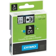 DYMO 1/2 D1 Label Maker Tape, Black on Clear