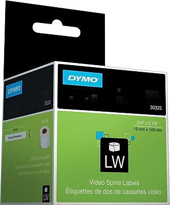 DYMO LabelWriter White Video Spine Labels 3 4 x 5 7 8