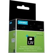 """DYMO LabelWriter White Hanging File Tab Inserts, 9/16"""" x 2"""""""