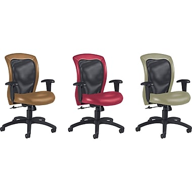 Global™ Airflow Custom Leather Mesh-Back Chairs