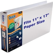 "Stride QuickFit Heavy-Duty Ledger-Size Binder, White, 625-Sheet Capacity, 3"" (Ring Diameter)"