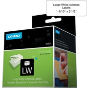 "DYMO® LabelWriter Large Address Labels, 1-2/5"" x 3-1/2"", 30321"