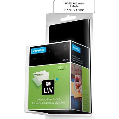"Dymo® 260CT White 1-1/8"" X 3-1/2"" Address Label, 2 Rolls"