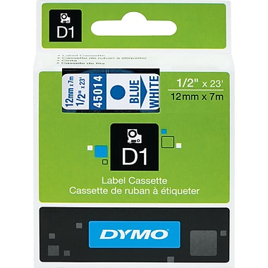 DYMO® D1 Label Tape, 12mm (1/2