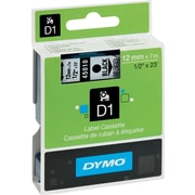 "DYMO® D1 Label Tape, 12mm (1/2"") Black on Clear"