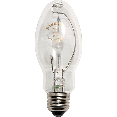 70 Watt Plusrite ED-17 Metal Halide Bulbs, Clear