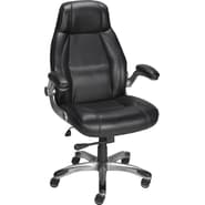 Staples® Torrent™ Bonded Leather Managers Chair, Black