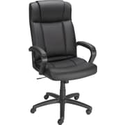 Staples® Sidley™ Luxura® Executive High-Back Chair, Black