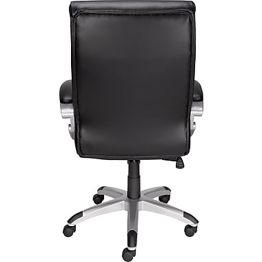 Staples Karston Bonded Leather Mid-Back Managers Chair