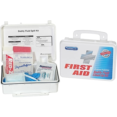 PhysiciansCare® Emergency First Aid Personal Protection and Bodily Fluid Spill Kit