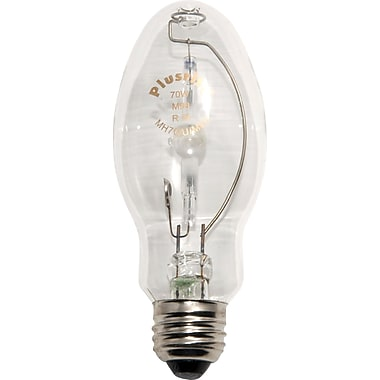 70 Watt Plusrite ED-17 Metal Halide Bulbs, Clear, 6/Pack