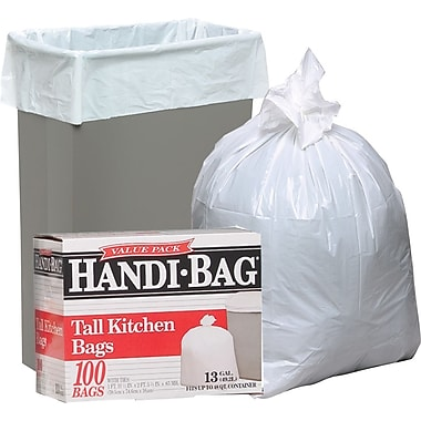Webster Handi-Bag® Trash Bags Super Value Pack, White, 13 gal.