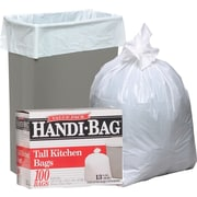 Webster Handi-Bag® Trash Bags Super Value Pack, White, 13 Gallon, 100 Bags/Box
