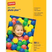 Staples® Photo Plus Paper, 8 1/2 x 11, Gloss, 50/Pack