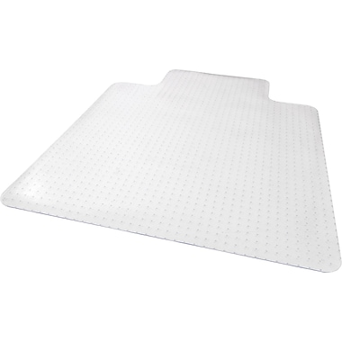 Staples Low Pile Carpet Chair Mat, Lip, 45in. x 53in.