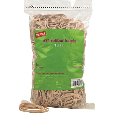 Staples Economy Rubber Bands, Size #32, 1 lb.