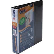 "Stride® Quick-Fit® 87021 Slant D-Ring View Binder, 1.5"", Black"