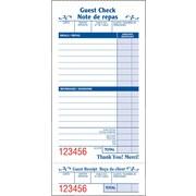 Staples® Restaurant Guest Check Pad, 100/Sheets, Bilingual