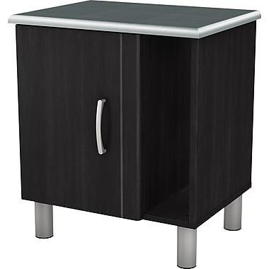 South Shore Cosmos Collection Night Stand, Black Onyx/Charcoal