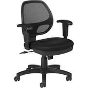 Global Mid-Back Mesh Task Chair, Adjustable Arm, Black
