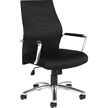 Global High-Back Mesh Manager's Chair, Fixed Arm, Black