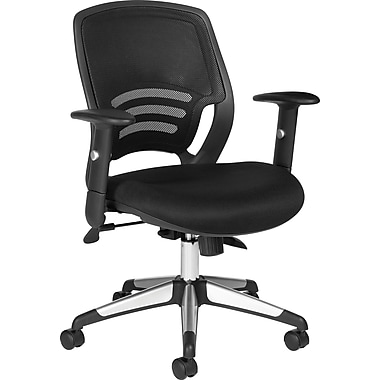 Global® Mid-Back Mesh Managers Chair , Black