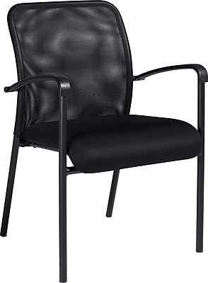 Global Luxhide Mesh Guest Chair, Black 322021