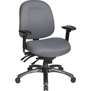 Office Star Pro-Line II™ Fabric Ergonomic Mid-Back Task Chair, Gray