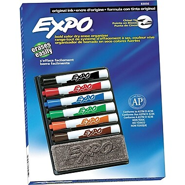 Expo Chisel Point Dry-Erase Marker, Assorted, 6/Pack