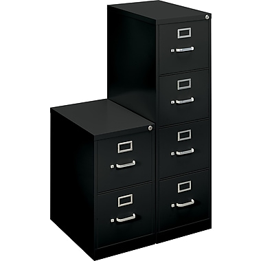 basyx™ 22in.  Deep Commercial Vertical  File Cabinets, Letter Size