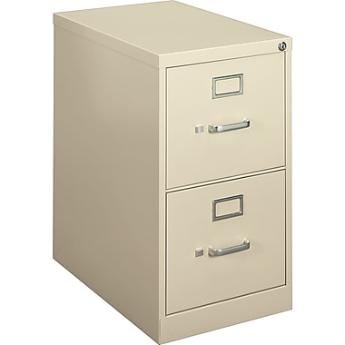 basyx by HON Embark Mobile Pedestal File Cabinet, Putty, 2-Drawer