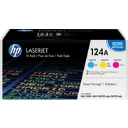 HP 124A C/M/Y Color Toner Cartridges (CE257A), Combo 3/Pack