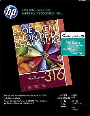 HP Inkjet Brochure Paper, Matte 863630