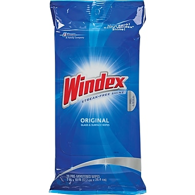 Windex Cleaner Wipes, 28 Wipes/Pack