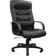 Staples® Canteshire™ Leather Manager's Chair, Black